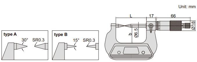 Panme cơ khí đo điểm Insize 3230
