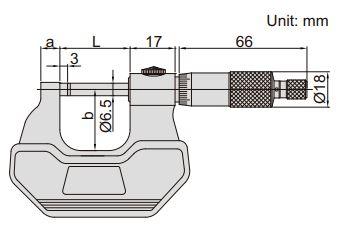 Panme đo ngoài Insize (cho cả người thuận tay trái và tay phải) 3236