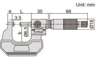 Panme đo ngoài có bộ đếm Insize 3400