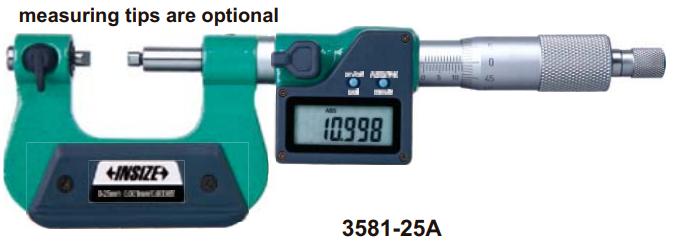 Panme điện tử đo đường kính chân ren Insize 3581