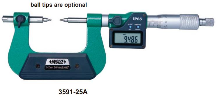 Panme điện tử đo bánh răng Insize 3591