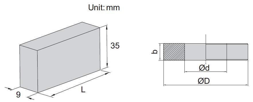 Bộ khối chuẩn panme Insize 4160-10