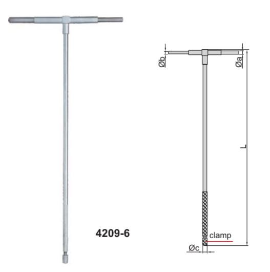 Bộ dưỡng đo đường kính trong Insize 4209 loại tay cầm dài