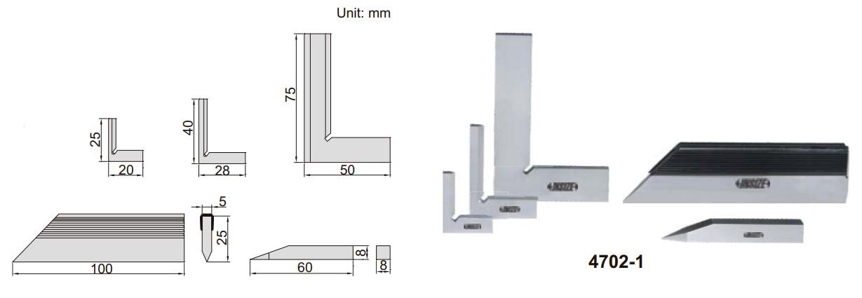 Bộ thước đo góc vuông Insize 4702