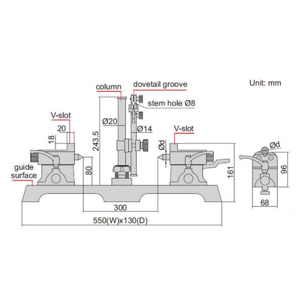 Thiết bị đo kiểm trục Insize 4782-300