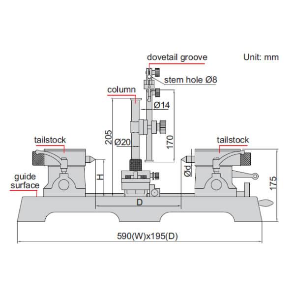 Thiết bị đo kiểm trục Insize 4723-300