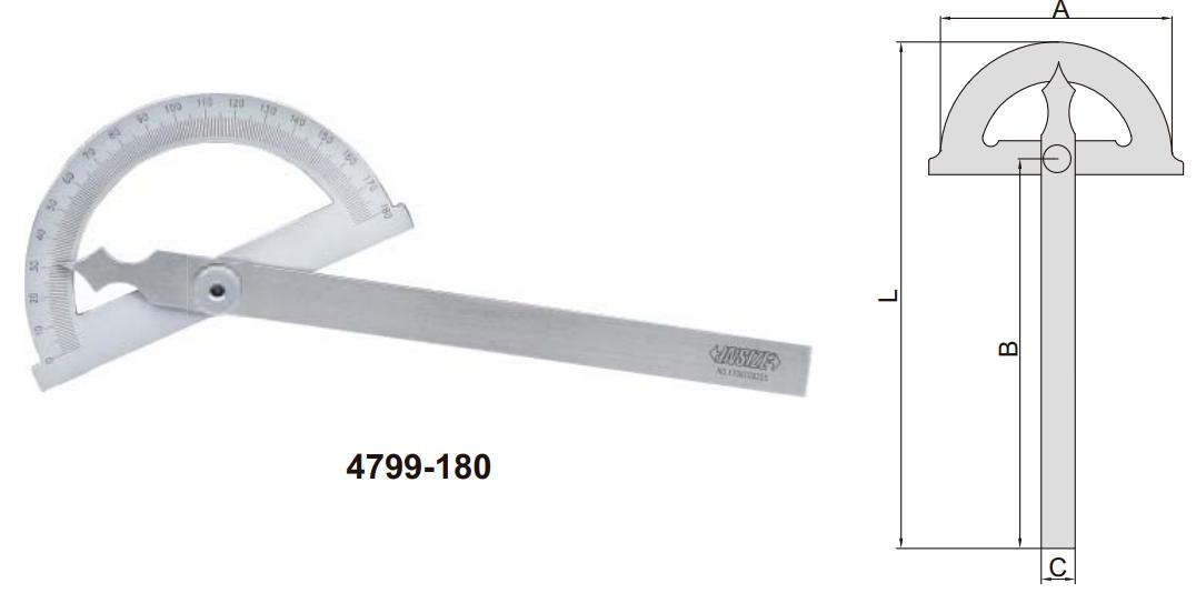 Thước đo góc Insize 4799