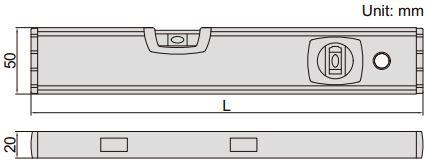 Thước thủy (nivo) hợp kim nhôm (loại cơ bản) Insize 4918