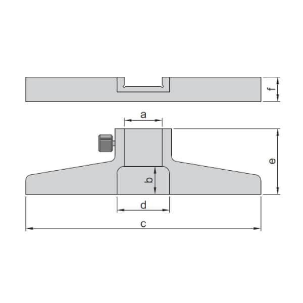 Đế gắn thước kẹp đo sâu Insize 6140