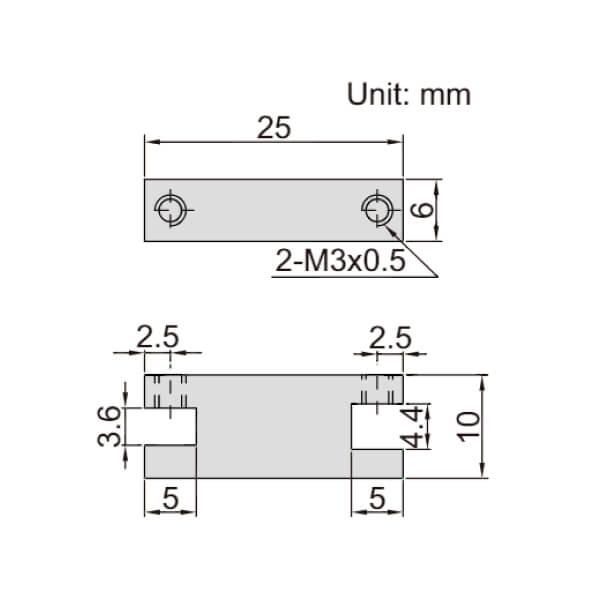 Gá chặn cho ngàm thước kẹp Insize 6143