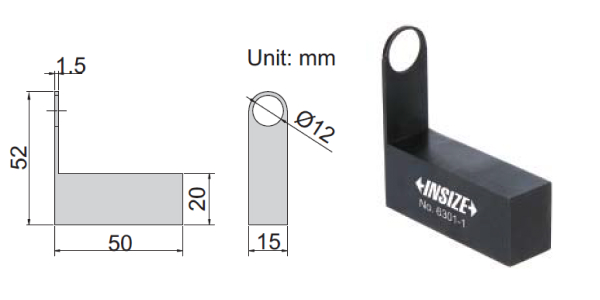 Đế kẹp thước panme Insize 6301