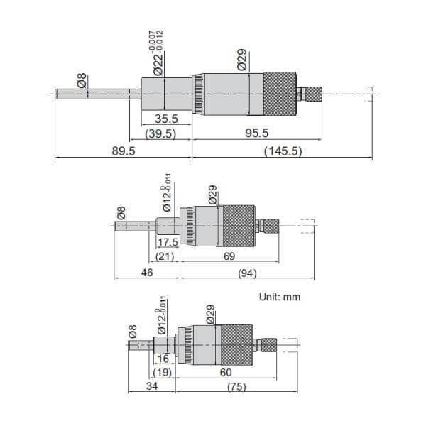 Đầu đo thước panme Insize 6375