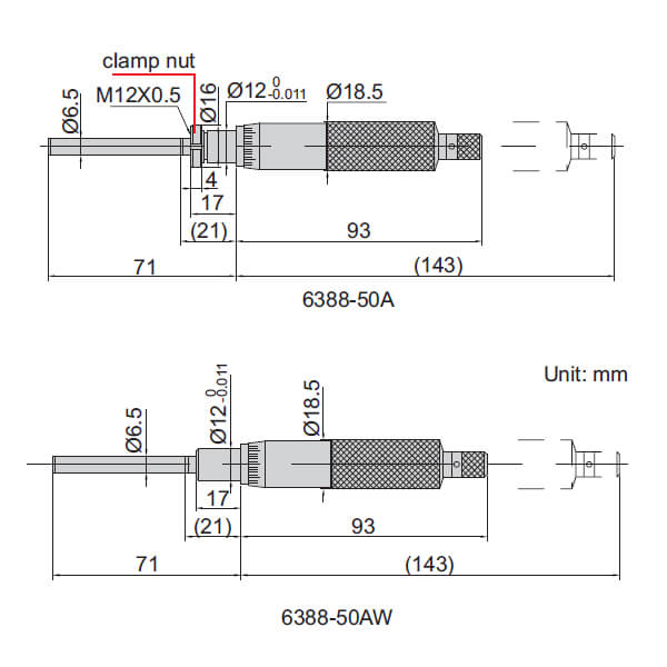 Đầu đo thước panme cỡ lớn Insize 6388-50A