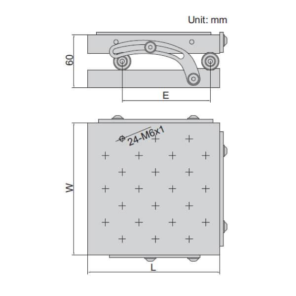 Bàn đo góc Insize 6527-100