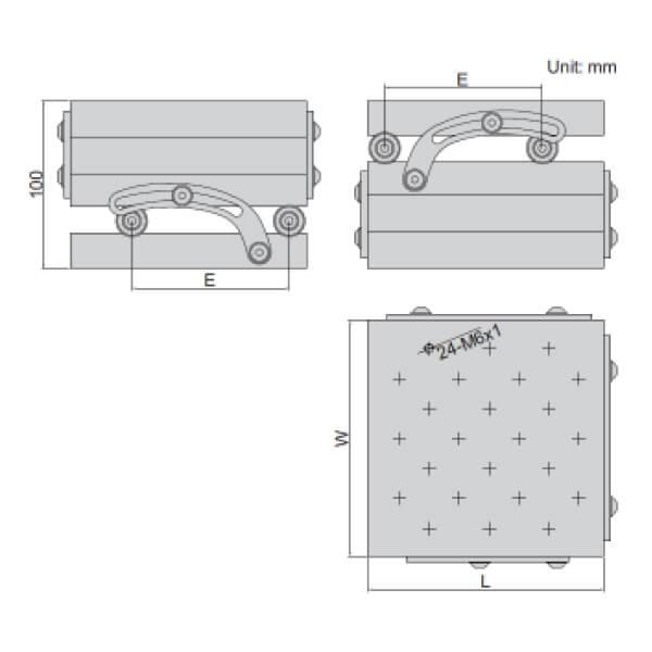 Bàn đo góc tổ hợp Insize 6536-100