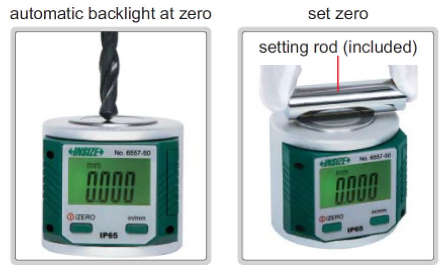 Dụng cụ set 0 điện tử Insize 6557-50