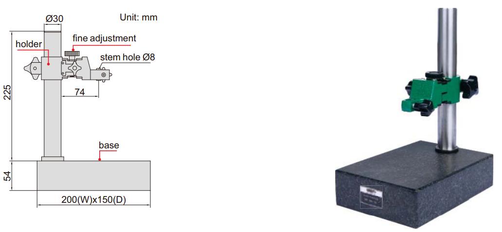 Đế gá đồng hồ so cơ khí mặt đá granit Insize 6866