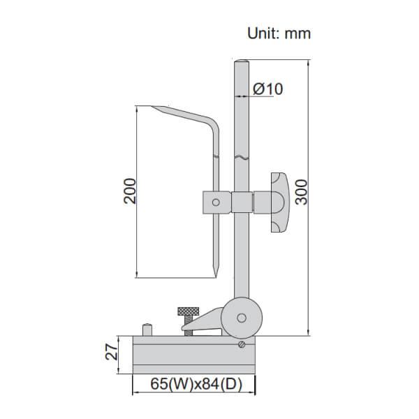 Mũi vạch dấu chiều cao Insize 6990-300A