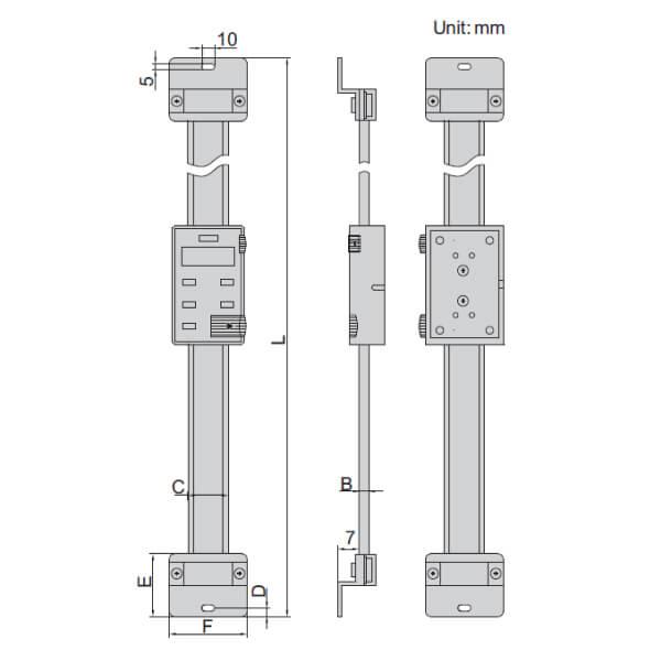 Thước đo điện tử phương dọc Insize 7102