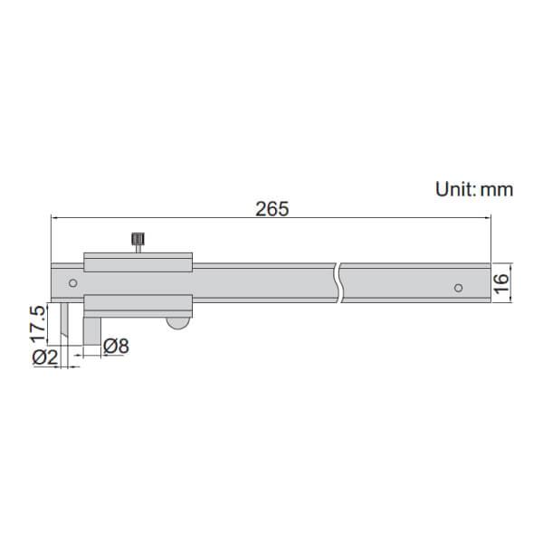 Thước kẹp cơ khí vạch dấu Insize 7202-200A