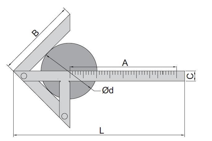 Dụng cụ lấy dấu tâm Insize 7205