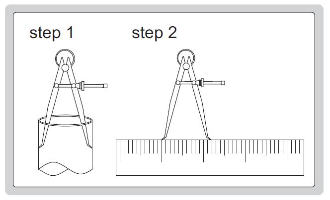 Compa lò xo đo trong Insize 7261
