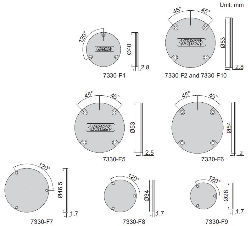 Nắp lưng cho đồng hồ so Insize 7330-F