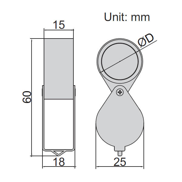 Kính lúp loại gấp Insize 7511-8