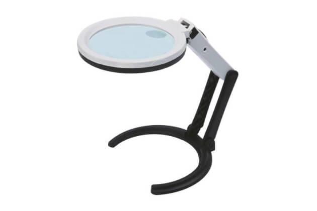 Kính lúp Insize 7512-1 ba vị trí, có đèn chiếu