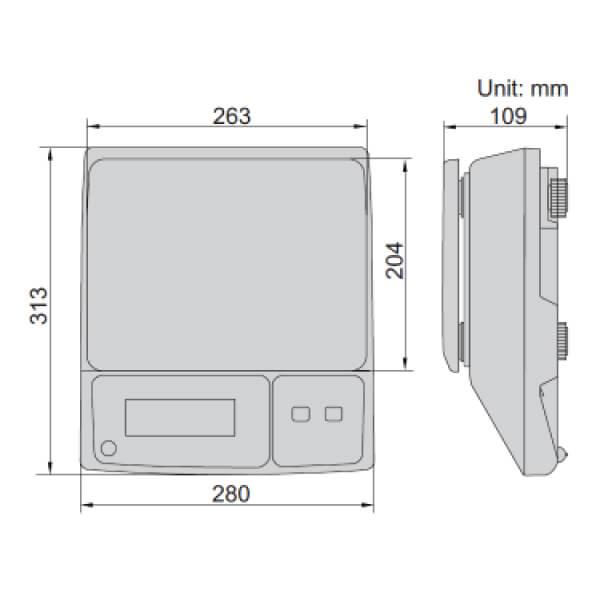 ân điện tử Insize 8002 (chứng chỉ OIML)