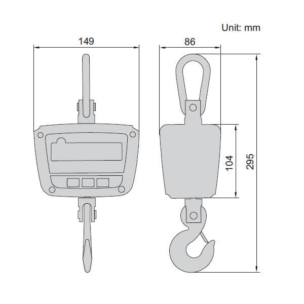 Cân treo điện tử Insize 8202 loại phổ thông