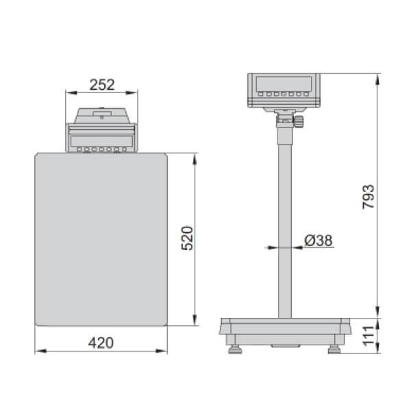 Cân sàn điện tử Insize 8501