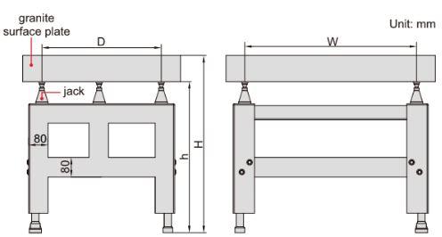Chân đế cho bàn MAP Insize 6902