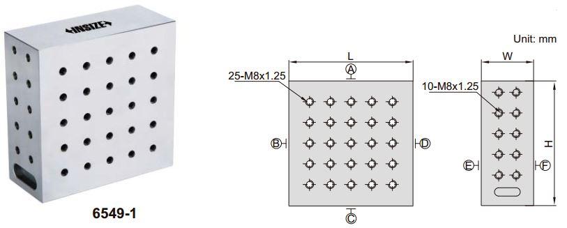 Khối căn góc phải Insize 6549