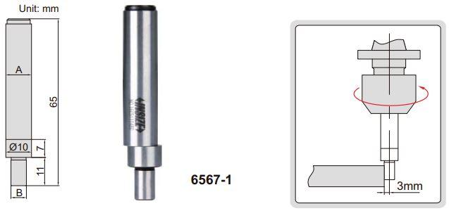 Đầu rà biên CNC Insize 6567