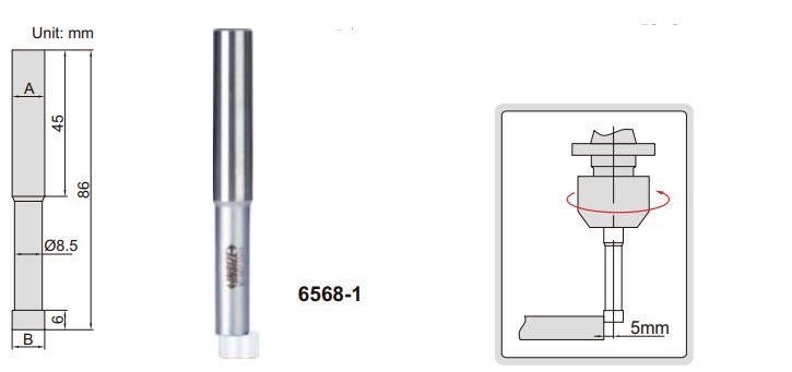 Đầu rà biên CNC loại Ceramic Insize 6568