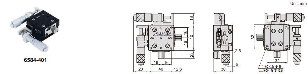 Đế chỉnh trục XY Insize 6584