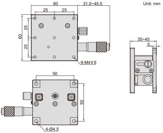 Đế chỉnh trục Z Insize 6586
