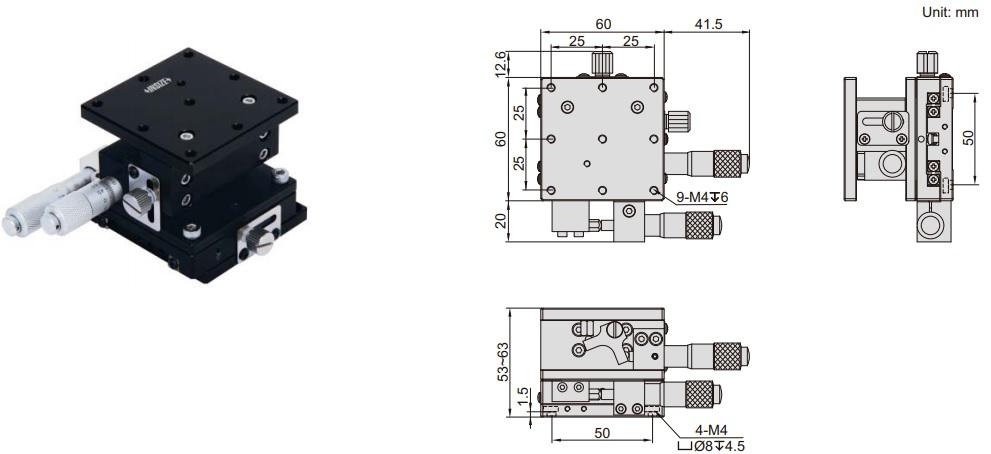 Đế chỉnh trục XZ Insize 6587