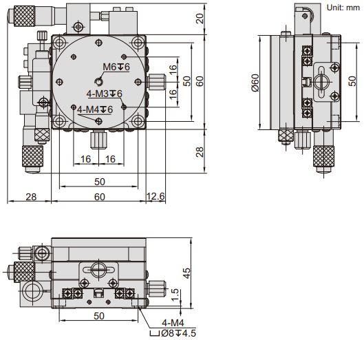 Đế xoay và chỉnh trục XY Insize 6588