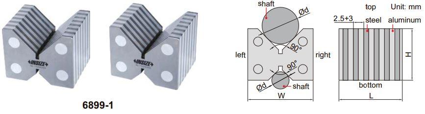 Bộ khối V cảm ứng từ Insize 6899