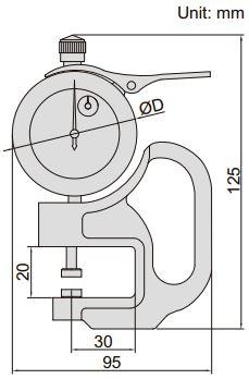 Đồng hồ đo độ dày Insize 2364