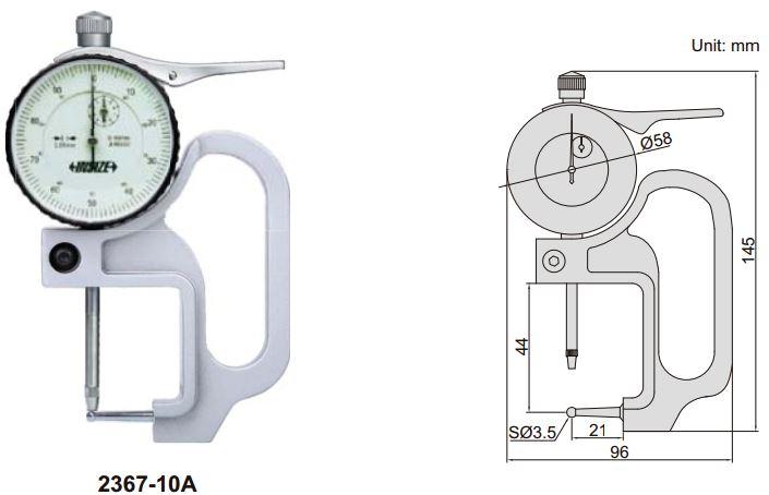 Dụng cụ đo độ dày ống Insize 2367