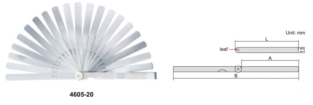 Set căn lá (loại dài) Insize 4605