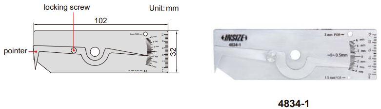 Thước đo mối hàn Insize 4834
