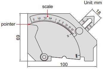Thước đo mối hàn Insize 4835