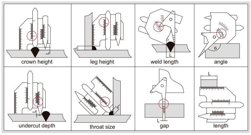 Set thước đo mối hàn Insize 4838