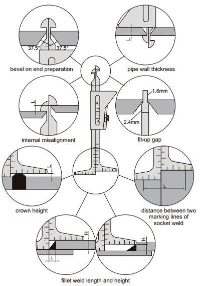 Thước đo ống hàn Insize 4839