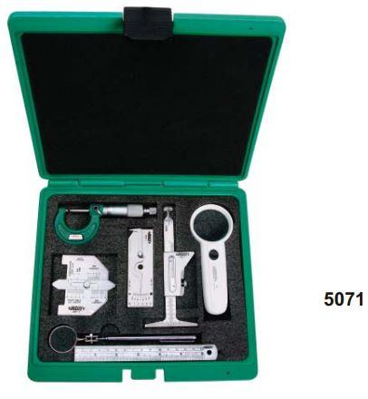 Set 7 thước đo mối hàn Insize 5071