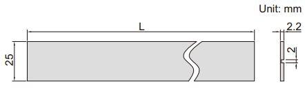 Thước lá cứng Insize 7113